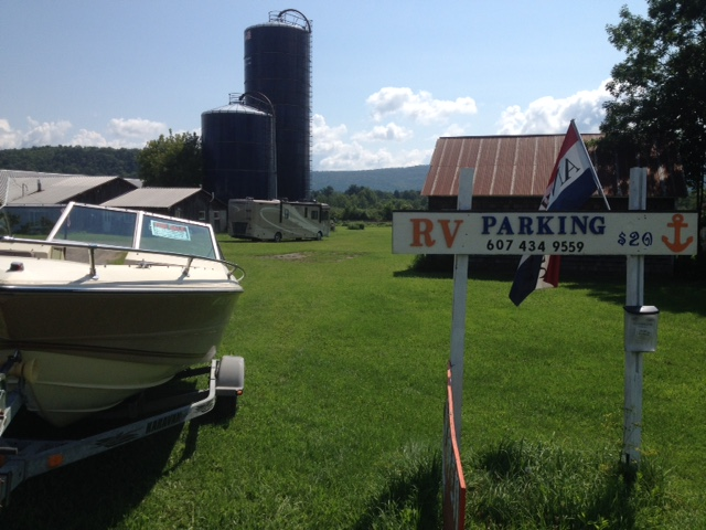 RV parking and Auto Storage Milford NY, 8 miles from Cooperstown NY